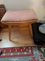 2  foot stools 1960 s  style salmon , blonde wood in Wiesbaden, GE