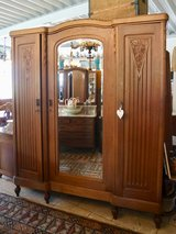 beautiful Art Deco armoire with double facetted mirror ( bed room set ) in Stuttgart, GE