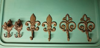 Vintage look wrought iron coat hooks Fleur de Lis in Ramstein, Germany