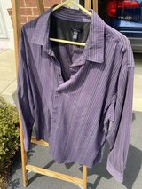 Men's Purple Striped Van Heusen Shirt in Naperville, Illinois