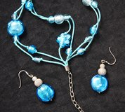 Murano glass parure earrings and bracelet in Okinawa, Japan