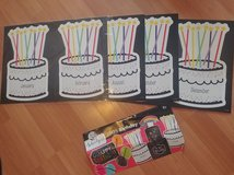 Teacher Daycare Happy Birthday bulletin board Months and headbands in Yorkville, Illinois