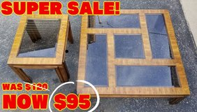 TABLES - COCKTAIL and END TABLE ($85 For The Pair) in Bolingbrook, Illinois