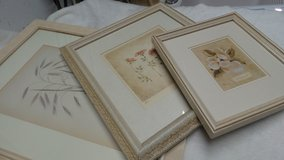 3 GRADUATED FRAMES: ROSES & MAGNOLIA FLOWERS MATTED BEAUTIFULLY in Plainfield, Illinois