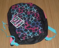 "New w Tags Black Pink Printed 16"" Backpack School Book Bag in Yorkville, Illinois"