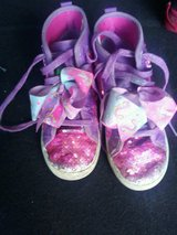 Sparkly girls unicorn gym shoes size 2 in Naperville, Illinois