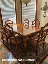 Ethan Allen Dining Room Table & 6 Chairs in Tomball, Texas