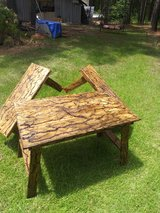 table and two benches in Fort Polk, Louisiana