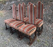 set of 6 antique chairs made of tiger oak in Spangdahlem, Germany