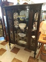 Amazing Mahogany China Cabinet with Curved Glass in Fort Leonard Wood, Missouri