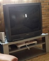 "36"" Sharp TV and tv stand in Alamogordo, New Mexico"