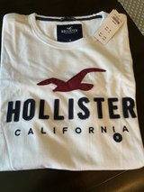 Hollister (M) White Cotton Tee Shirt - New w/Tags in Kingwood, Texas