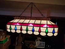 Tiffany style Pool table light in Orland Park, Illinois