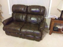 Lazy Boy Leather Love Seat in Cherry Point, North Carolina