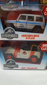 Die cast Jurassic Park World cars in Chicago, Illinois