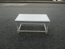 pretty white (plant) table with tiles in Ramstein, Germany