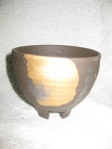 Hand crafted pottery rice bowl in Okinawa, Japan