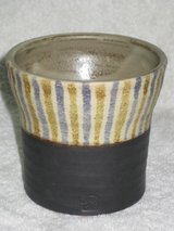 Hand crafted signed pottery cup in Okinawa, Japan