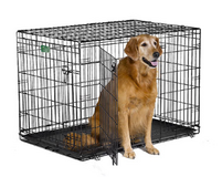 """iCrate 1542DD Double Door Folding Dog Crate & Crate Cover (42"""" x 28"""" x 30"""") - 71 to 90 lbs in Houston, Texas"""