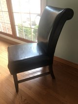 Leather Dining Chair, set of 6 in Naperville, Illinois
