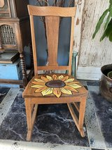 Small Solid Wood Rocking Chair w/Sunflower Seat in Fort Irwin, California