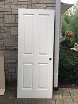 Interior Wood Door 4-Panels, Painted White in Naperville, Illinois