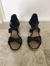 Womens' Ralph Lauren Blue Wedge Sandals - Size 7.5 in Naperville, Illinois