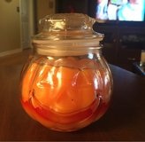 Candle in Glass Pumpkin Jar in Chicago, Illinois