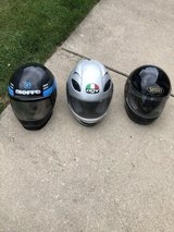 3 MOTORCYCLE SNOWMOBILE OR ANYTHING HELMETS in Chicago, Illinois