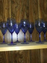 Vintage, Blue glass wine glasses in Hinesville, Georgia