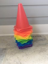 24 Multi-Color Indoor/Outdoor Flexible Cones for Sports or Play in Naperville, Illinois