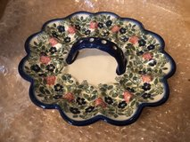 Boleslowiec Handmade Polish Deviled Egg Serving Tray in Ramstein, Germany