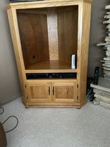 Oak corner tv entertainment cabinet in Tinley Park, Illinois