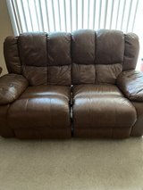 Brown Leather Love Seat  and Rocker Recliner in Tinley Park, Illinois
