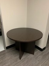 "42"" Round Wood Table in Tomball, Texas"