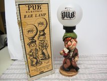 VINTAGE CERAMIC PUB/BAR IRISH MAN GLOBE LAMP WITH ORIGINAL BOX in Cherry Point, North Carolina