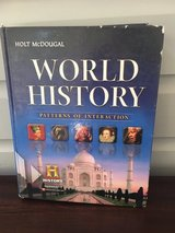 High School World History Textbook - Holt McDougal in Naperville, Illinois