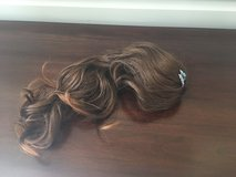 Clip-in Long Hair Extension; Medium Brown, Slight Curl in St. Charles, Illinois