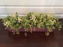 Decorative Accent - Faux Green Florals in Long, Skinny Planter in Chicago, Illinois