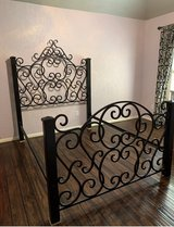 Custom full size wrought iron bedframe in Kingwood, Texas