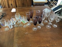 Wine glasses and champagne flutes in Yorkville, Illinois