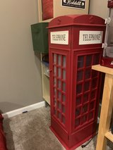Phone booth display cabinet for kids in Aurora, Illinois
