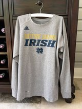 Boys Notre Dame Long-Sleeve Shirt by Adidas Size M (10-12) in Naperville, Illinois