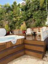 dimension one Amore' Bay spa and tree deck in Vista, California