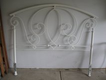 White Iron Scrolly Arch Headboard-QUEEN in Naperville, Illinois