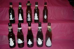 Small decorative Christmas bottles in Chicago, Illinois