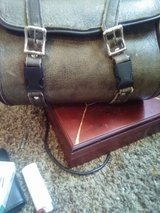 Leather motorcycle bag in Plainfield, Illinois