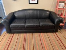 Ethan Allen - Black Leather Sofa, Excellent condition in Fort Meade, Maryland