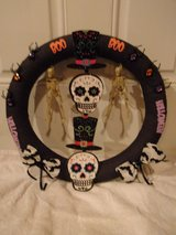 Halloween wreath skulls ribbons spiders boo. in Fort Hood, Texas