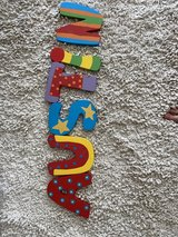 wall letters for nursery in Sugar Land, Texas